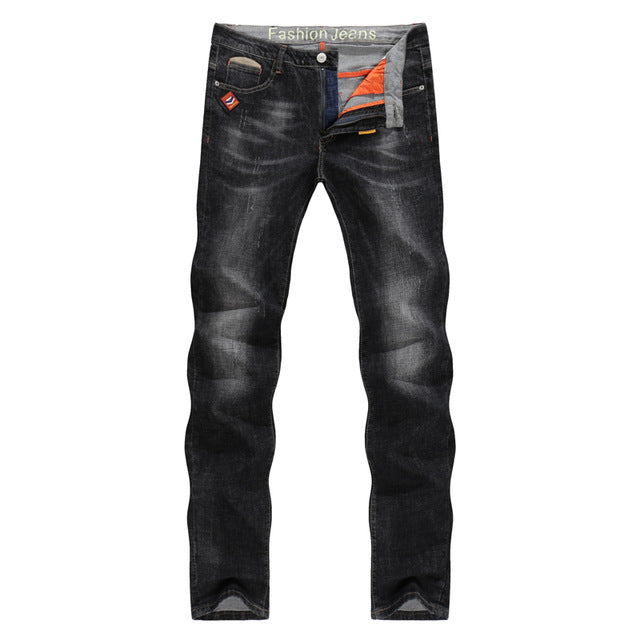 Jeans Slim Fit Stretch Denim Casual Quality Pants