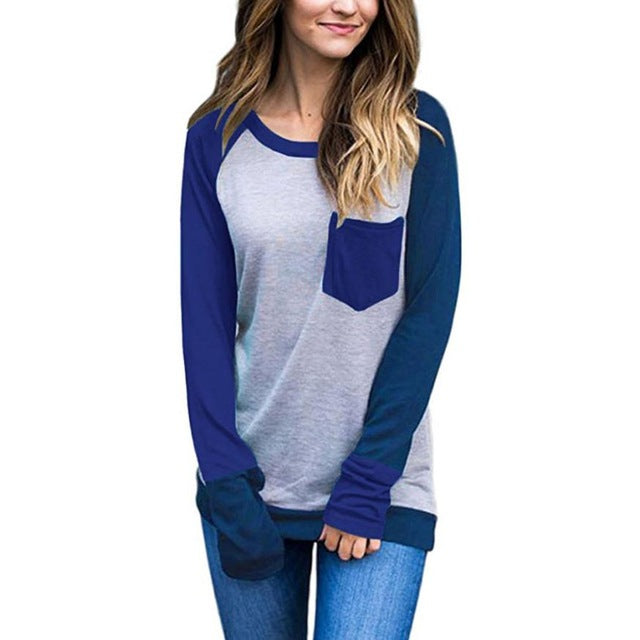 Casual Crew- Neck Long Sleeve T-Shirt