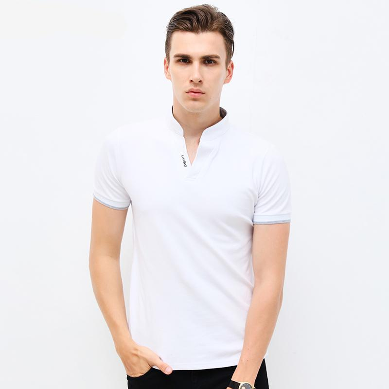 Summer Fashion T-Shirts V-Neck Slim Fit Short Sleeve Tees
