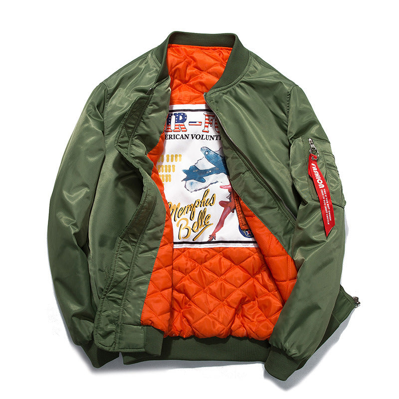 Pleated Jackets Air Force Bomber Jacket