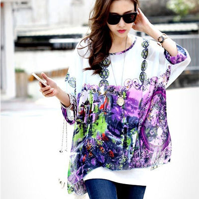 Blouses Shirts with Floral print
