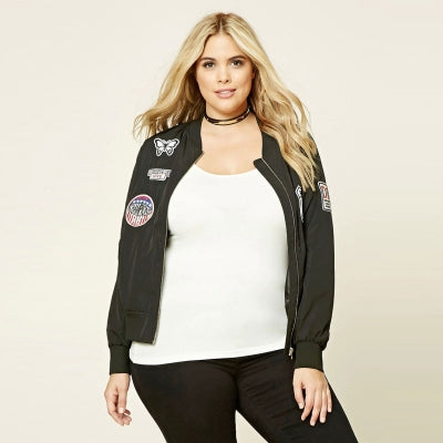 Urban Baseball Jacket + Plus Size