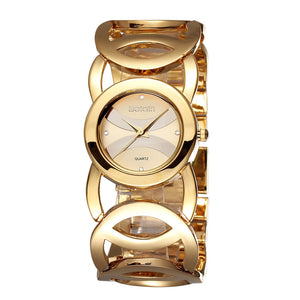 Weiqin Bracelet Style Watch Watch Dial with Rhinestone Elegant for OL Women Girl