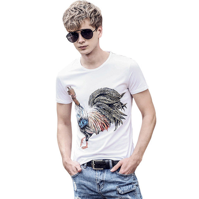 Summer Tees Print Animal T shirt