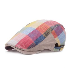 Unisex Casual Retro Hat Sun Plaid Plaid Forward Hat