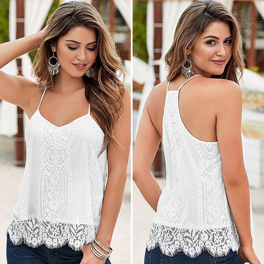 Sexy Lace Tops Crop Vest