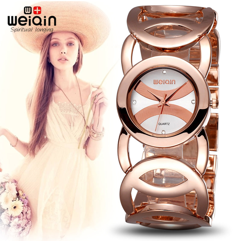 Luxury Rose Gold watch Full stainless steel woman Fashion