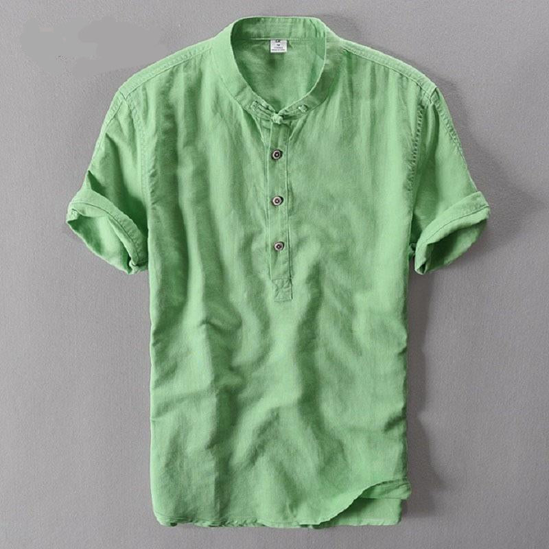 Summer Short Sleeve Linen Shirts