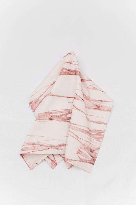 Latu Tea Towel: Pink Salt