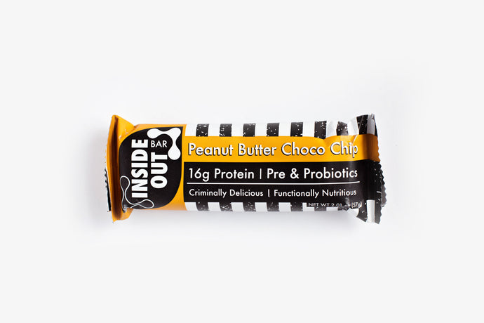 Peanut Butter Choco Chip: Inside-Out Pre & Probiotic Protein Bar (12 Bars)