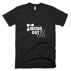Short-Sleeve Mens T-Shirt Black/White IOB