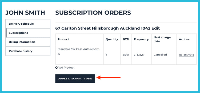 Subscription Discount