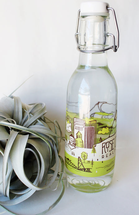 Rose City Realtors Tote Bags & Water Bottle Illustration