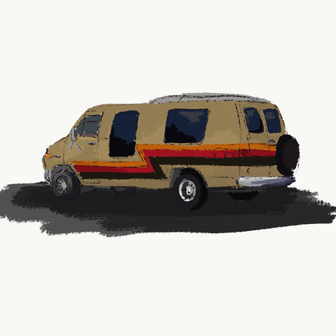 Vintage Van Sketches