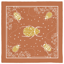 Load image into Gallery viewer, Insects Bandana - Clay & Mustard
