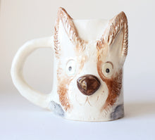 Load image into Gallery viewer, Custom ceramic mug for pet lover, handmade mug with pet's face, custom pet gift, dog lover gift, cat lover gift, pet memorial gift