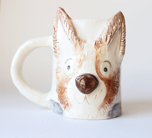 Custom ceramic mug for pet lover, handmade mug with pet's face, custom pet gift, dog lover gift, cat lover gift, pet memorial gift