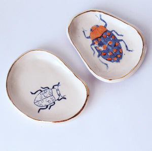 Blue & Orange Bug Dish