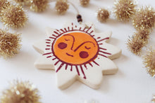 Load image into Gallery viewer, Sleepy Sunshine Ornament - Maroon & Orange