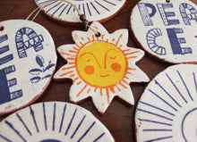 Load image into Gallery viewer, Sleepy Sunshine Ornament - Orange & Yellow