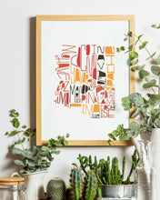 Load image into Gallery viewer, Arizona Counties Hand-Lettered Print