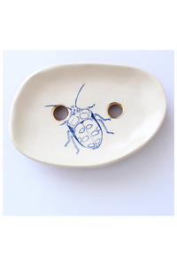 ceramic soap dish, bug trinket dish, bug dish, botanical illustration, botanical tray, This tray will be the perfect gift for nature lovers and will easily compliment your dressing table, Quirky and cool products! Beetle Print, Insect Print, gift for insect lover