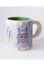 Load image into Gallery viewer, Bug Mug, unique coffee mug, coffee mug gift, Bug gifts, botanical insect, insect art, Beetle Print, Bugs Art,  Insect taxidermy, Whether they are amazed by bugs or creeped out by them, earth wouldn't be the same without insects. Unique bug gift ideas, insect gift idea