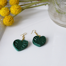 Load image into Gallery viewer, Monstera Leaf Dangly Earrings