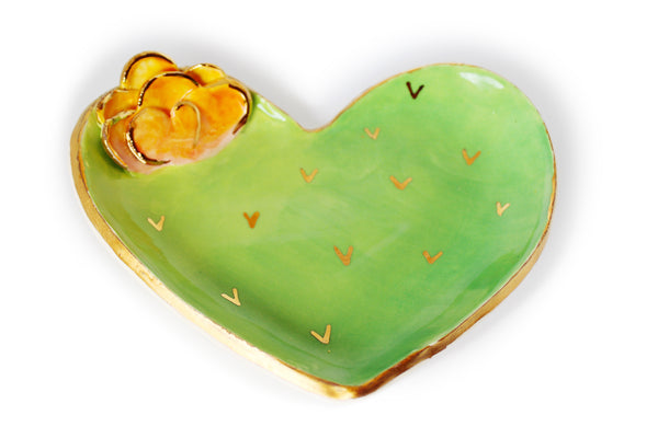 Heart Shaped Prickly Pear Cactus Dish