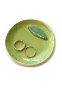 Golden Lime Citrus Trinket Dish