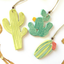 Load image into Gallery viewer, Cactus Ornament Trio