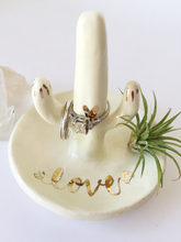 Load image into Gallery viewer, Ivory Ceramic Cactus Ring Holder