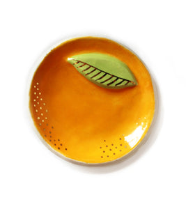Golden Orange Citrus Trinket Dish