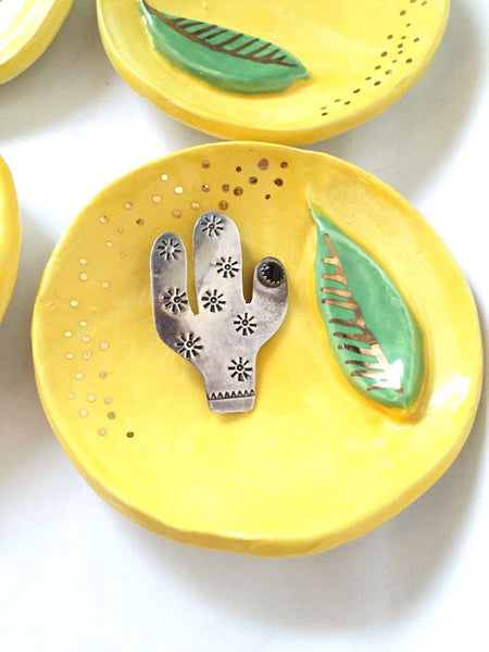 Ceramic Home Decor, cute lemon shaped dish. Handmade ceramic art, lemon jewelry dish, cute handmade gift