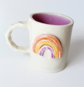 Rainbow Mug: Coral, Orange & Lavender