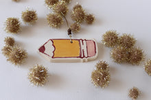 Load image into Gallery viewer, Teacher Gift Ornament - Ceramic Pencil