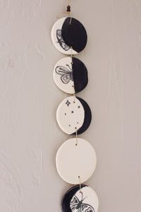 Moon phases wall hanging