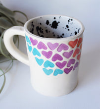 Load image into Gallery viewer, Rainbow Stamped Heart Mug