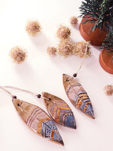Load image into Gallery viewer, Feather Ornament Trio - Brown & Gold