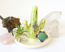 Load image into Gallery viewer, Green Saguaro Ring Holder