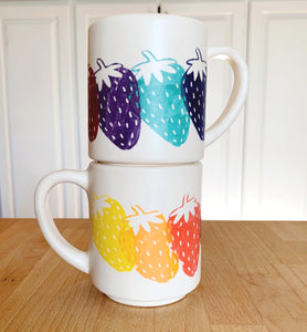 Strawberry Rainbow Mug 16 oz