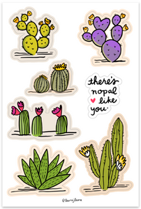 There's Nopal Like You Cactus Sticker Sheets