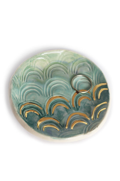 Mermaid Trinket Dish in Turquoise