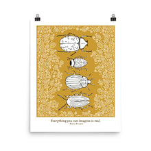 Load image into Gallery viewer, Everything You Can Imagine, custom print, bug print, insect print, Bug gifts, botanical insect, insect art, Beetle Print, Bug Art, Insect taxidermy, Whether they are amazed by bugs or creeped out by them, earth wouldn't be the same without insects. Unique bug gift idea, insect gift idea
