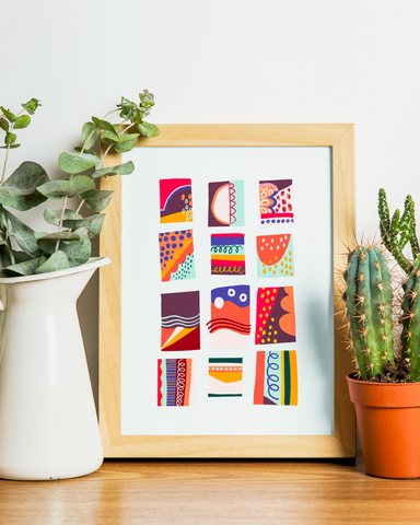Colors & Shapes Art Print