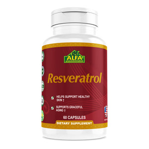 Resveratrol - Dietary supplement for the skin - 60 Capsules