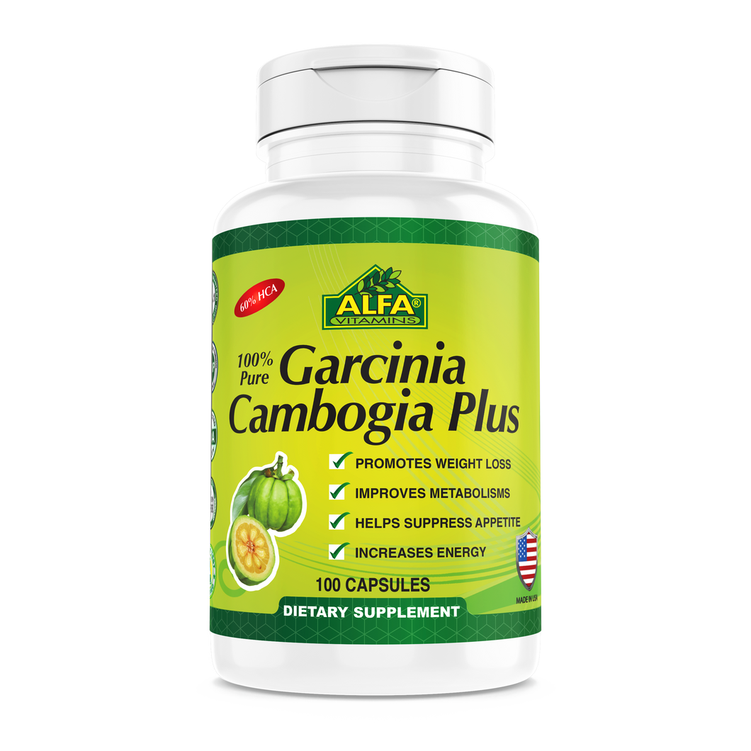 Garcinia Cambogia Extract 60% HCA-Weight Loss dietary supplement-100 Capsules