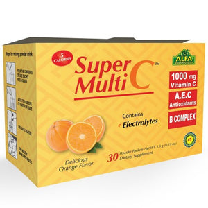 Super Multi C - Vitamin C Powder Supplement - 30 Sachets