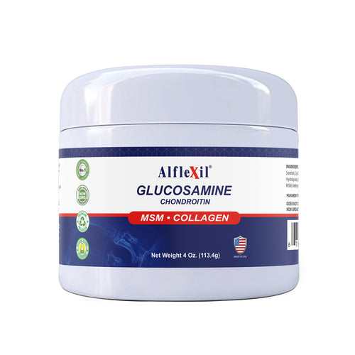 Glucosamine & Chondroitin Cream - MSM & Collagen - 4 Oz