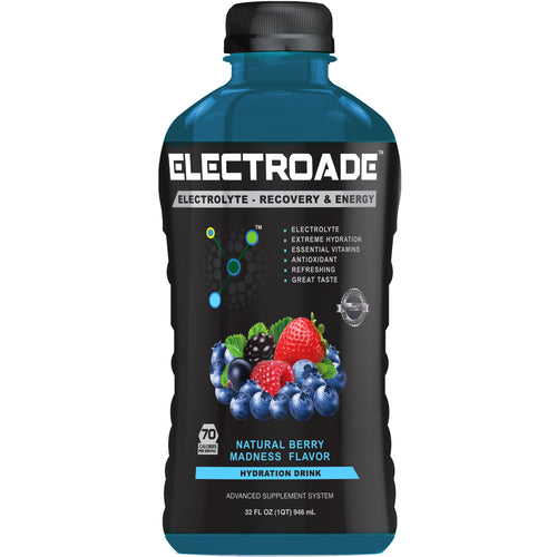Electroade - Hydration Drink - Berry Madness Flavor-32 oz